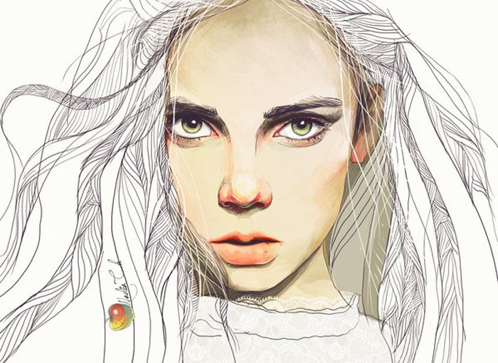 Your Porcelain Doll aka Ukrainian artist Nadiia Cherkasova  -    Digital Portraits inspiration