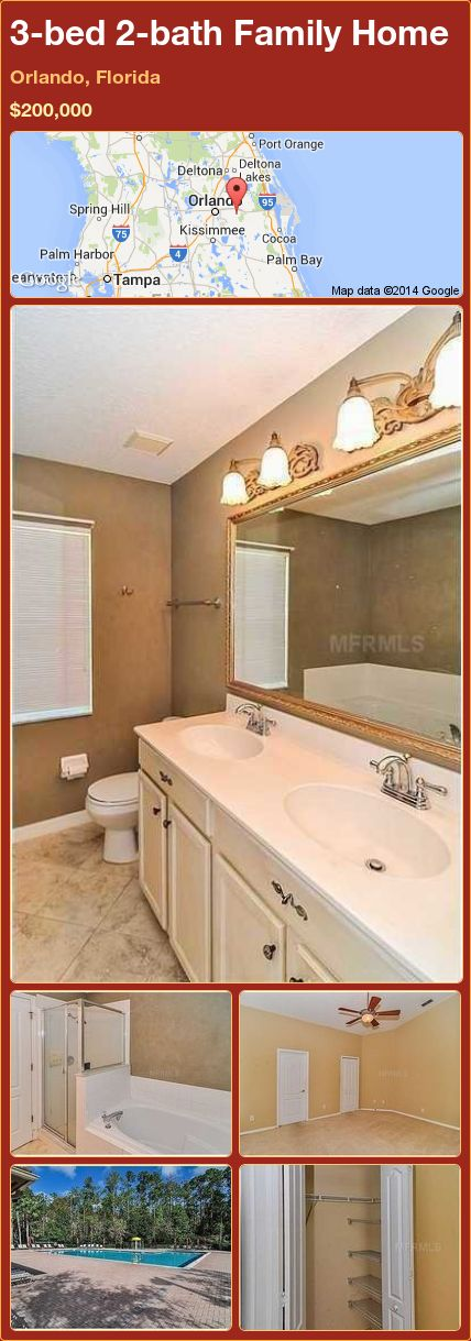 3 bed 2 bath Family Home in Orlando  Florida   200 000  PropertyForSale. 17 best ideas about Orlando Homes For Sale on Pinterest   Sunshine