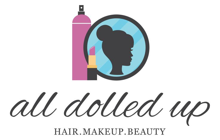 Fun vector logo design for All Dolled Up. Created by Manda Mac Designs.