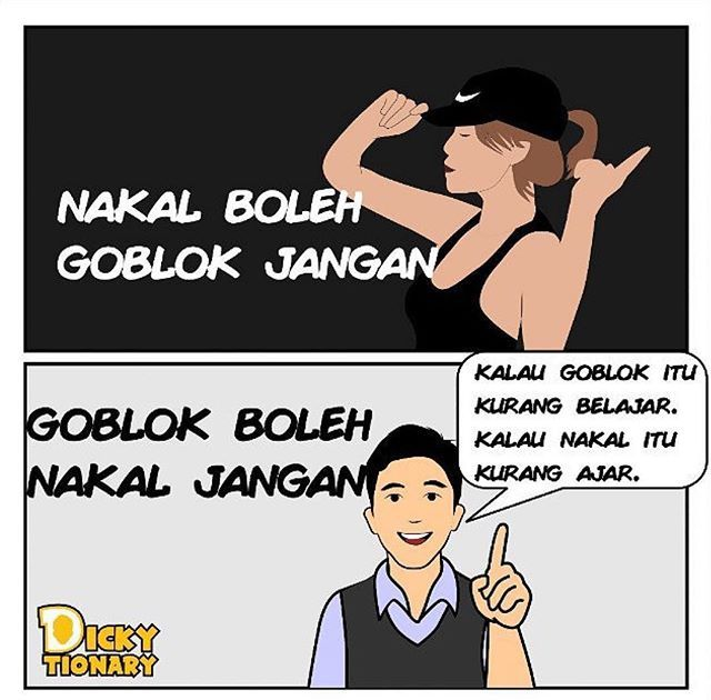 Komik dari @dickytionary_id . Jangan dua duanya yhaaaa  . #komikanu #komikindonesia #majuteruskomikindonesia #komik #komikstrip #digitalkomik #quotesanu