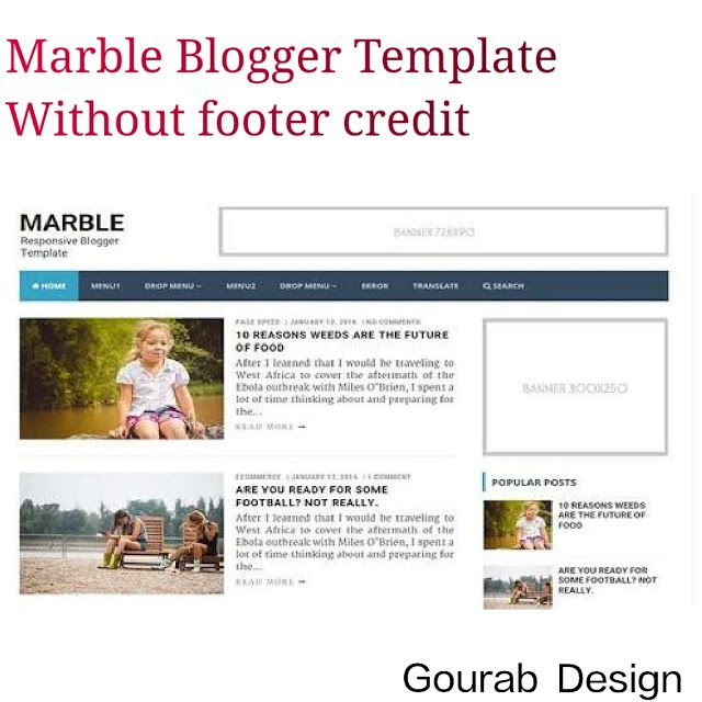 Today I am sharing with you the best technology theme in the world. Its name is Marble Blogger Template. This is the premium version but here it is fr…