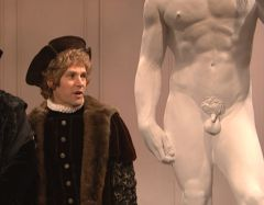 SNL VIDEO: Paul Rudd and His Small Penis Model For Michelangelo's David Statue
