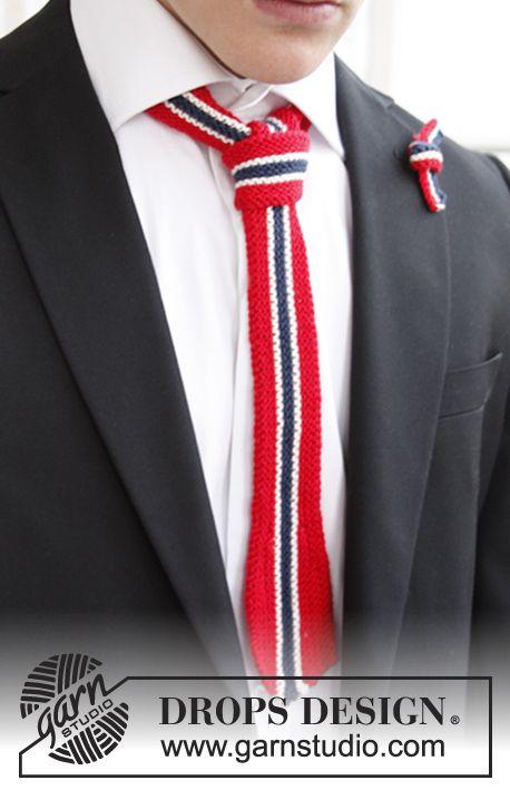 Strikkede DROPS slips og sløyfe til 17. mai ~ DROPS Design