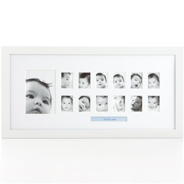 Photo moments frame - display baby's first 12 months. Comes with insertable sayings to add that personal touch. Great gift!