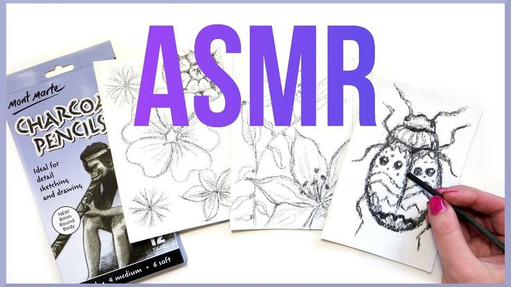 ASMR Charcoal Drawing No Talking + ASMR Dip Pen Writing.