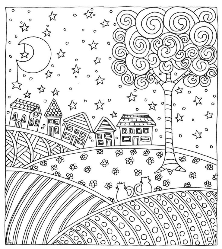 e design scapes coloring pages - photo #37