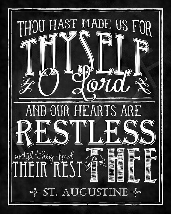 Mounted ChalkTypography 11x14 - St. Augustine Quote