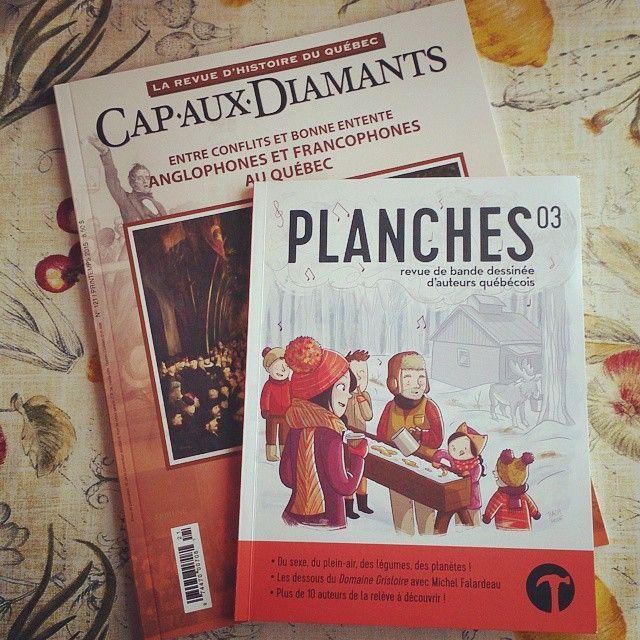 Deux revues québécoises: Cap-aux-Diamants et Planches