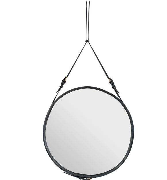 Inspired by Adnet Mirror Ø70 cm, black  Would need to be shipped from Europe looks like but it's about $1150 USD. Much better.