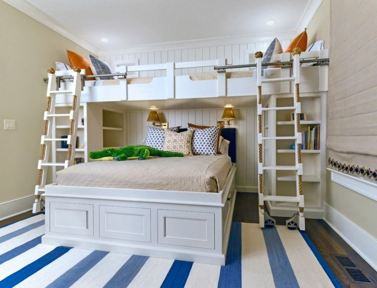 toddler bunk bed plans antique brass house of troy swing arm wall knot light gray and ivory seraphina pillow beach style bedroom blue and white marine rug wooden and rope ladder bookshelf of Admirable Toddler Bunk Bed Plans for Your Beloved Kids