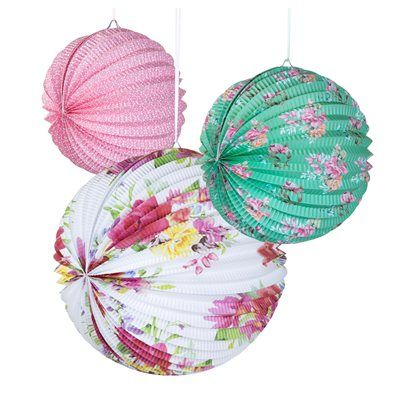 We simply adore these Truly Scrumptious Paper Lanterns.  Available now from butterslip.com.