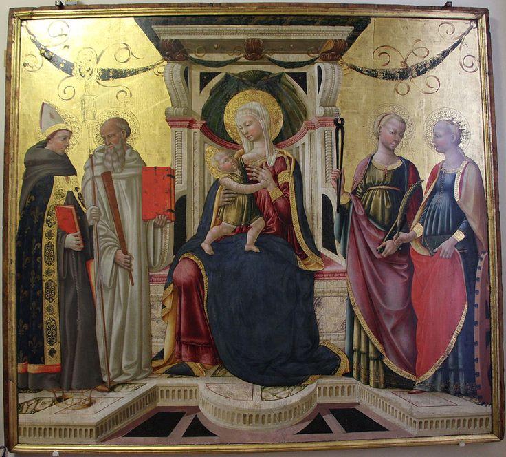 [Renaissance] Neri di bicci, madonna col bambino e santi, 1472-73.JPG