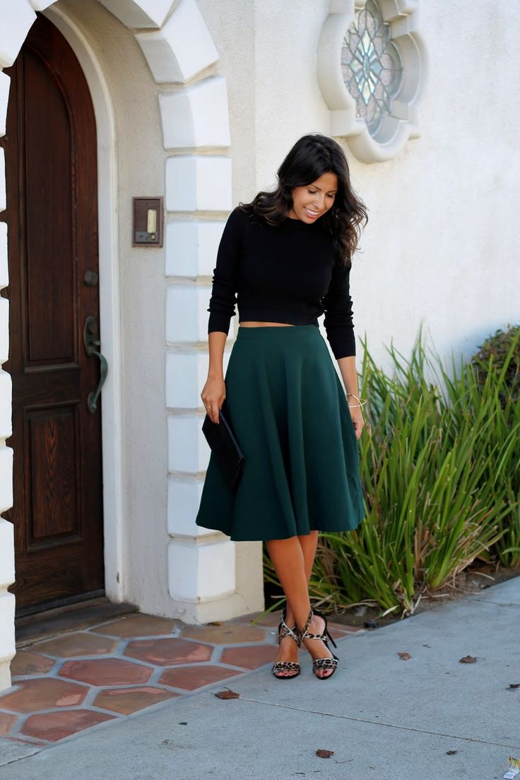 Midi Skirts for the Holidays