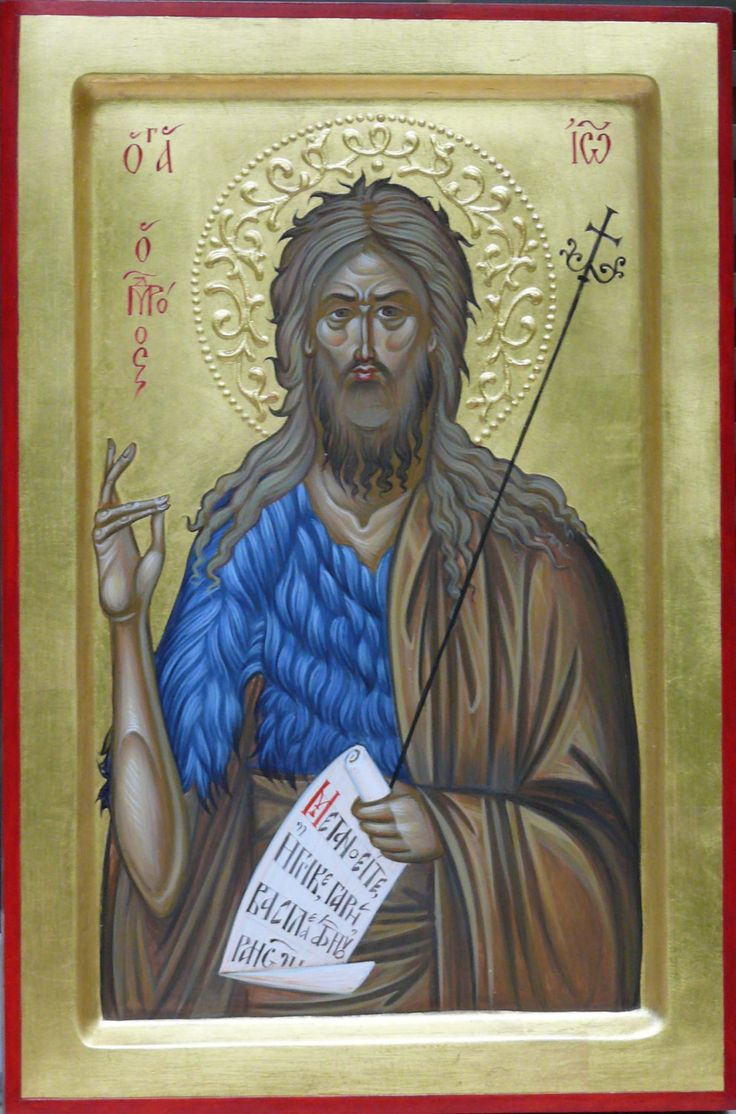 St John the Baptist, Byzantine icon, orthodox icon, hand painted, religious icon, orthodox gifts, St. John the Forerunner, Greek, Russian, custom art icon hand painted created by Bulgarian artist Georgi Chimev.