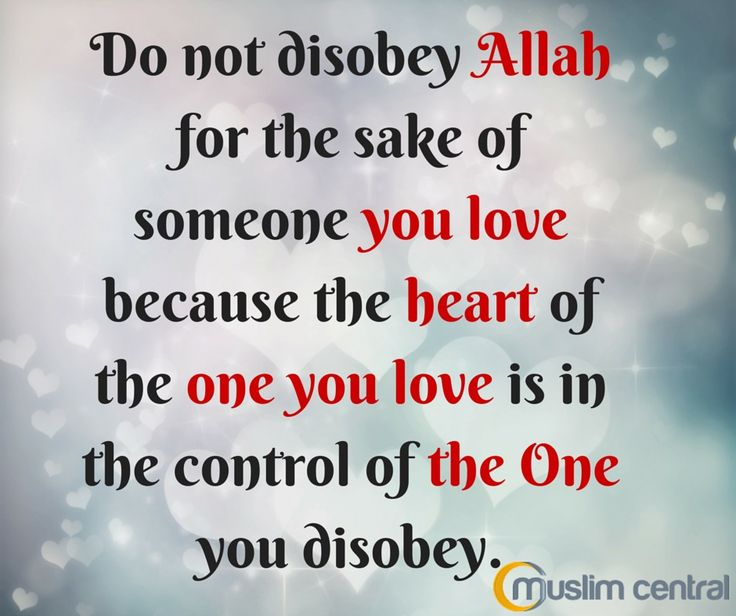 Why muslims disobey allah