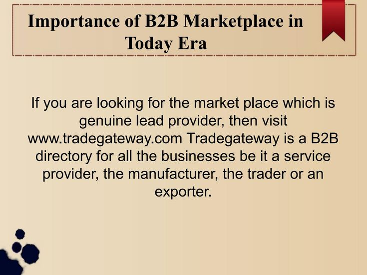 B2b marketplace and Directory