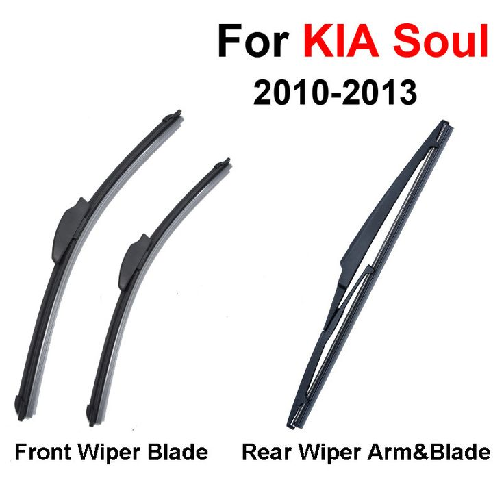 QEEPEI Combo Silicone Rubber Front And Rear Wiper Blades For KIA Soul,2010 2011 2012 2013,Windscreen Wipers Car Accessories #Affiliate