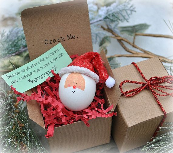 Santa Message in an Egg  Custom Gifts by BreaktheNews on Etsy