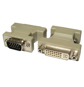 TVCables DVI to VGA Adapter DVI-I Female to VGA Male DVI to VGA adapter DVI-I / DVI-A female to VGA male connectors. Ideal for connecting DVI to displays with a VGA connector. Not compatible with DVI-D. http://www.MightGet.com/february-2017-3/tvcables-dvi-to-vga-adapter-dvi-i-female-to-vga-male.asp