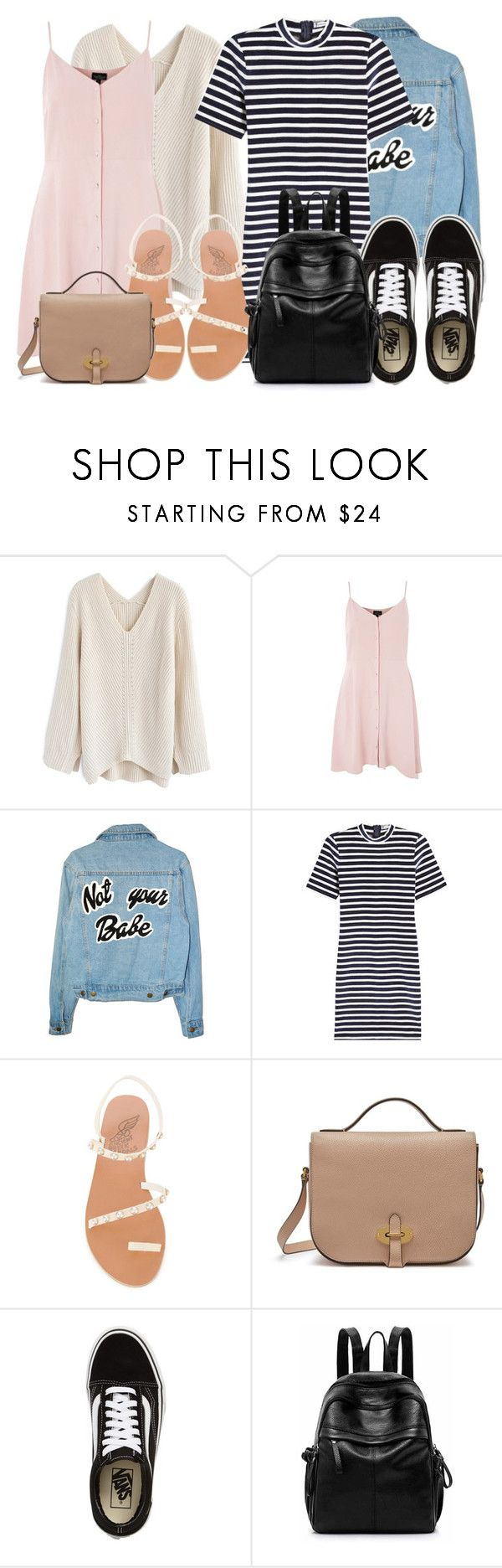"""Duality of a Girl"" by hicallmej on Polyvore featuring Chicwish, Topshop, T By Alexander Wang, Ancient Greek Sandals, Mulberry and Vans"