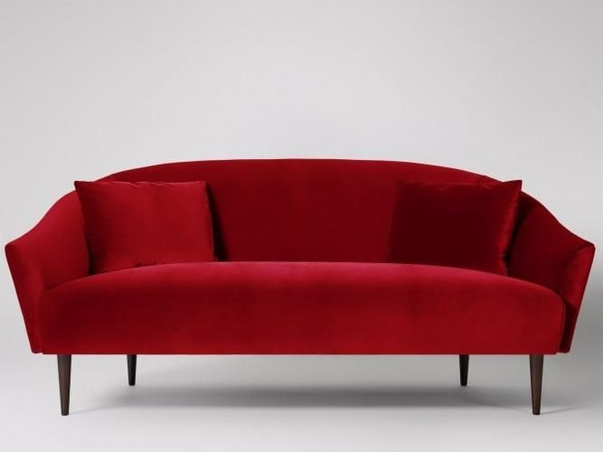 The Holloway Two Seater Sofa In Rouge Red Velvet So We Re Kind Of Obsessed With The Holloway Contemporary Commanding It S The Absolute Business Seater Sofa