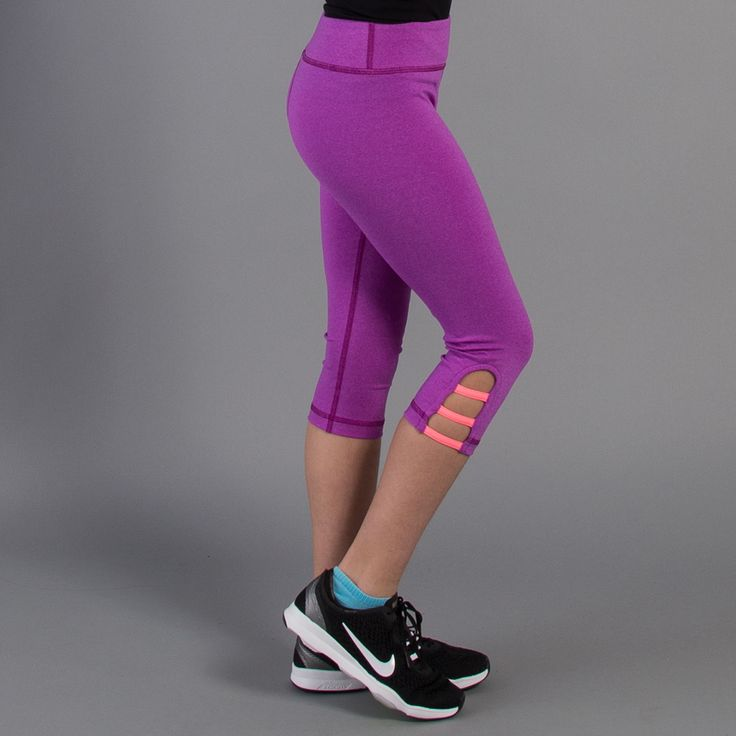 When in doubt, stretch it out. These purple cactus capri's are perfect for ANY activity