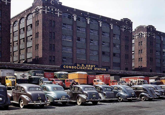 1943. Армейская грузовая станция в Чикаго