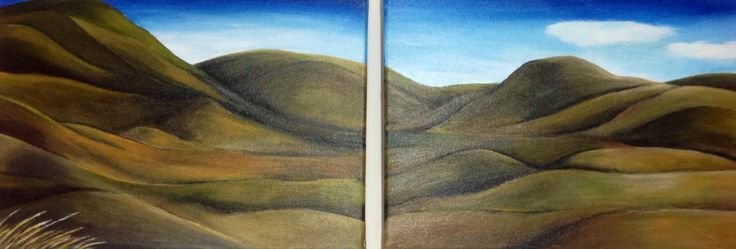 painting of Otago Landscape. My first painting.
