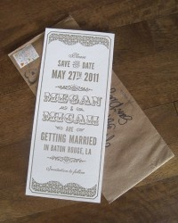 Real Invitations: Vintage-inspired | Oh So Beautiful Paper