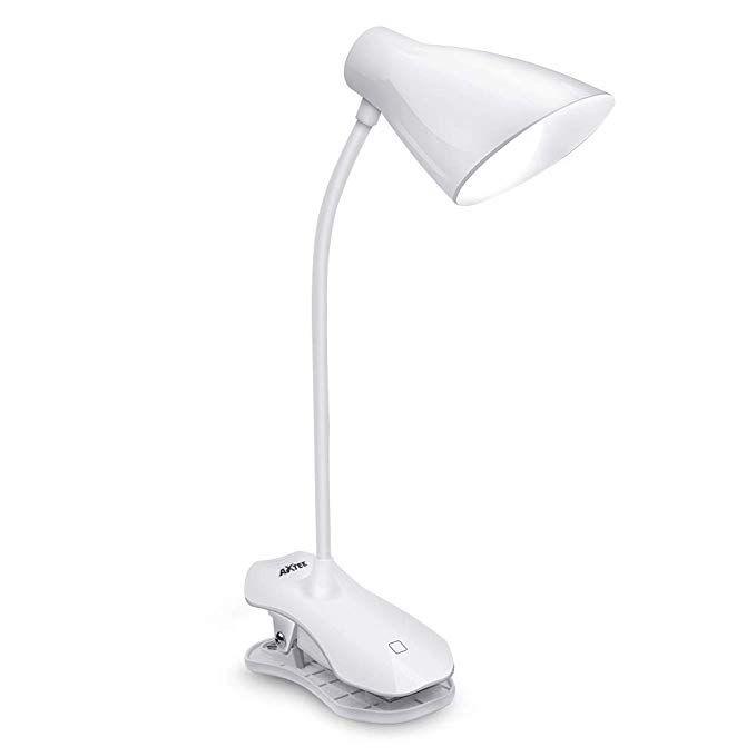 Axtee Clip On Lamp Led Desk Lamp Rechargeable Book Lights Adjustable Gooseneck Touch Control Brightness 3 Levels With Usb Port Pro Led Desk Lamp Desk Lamp Lamp