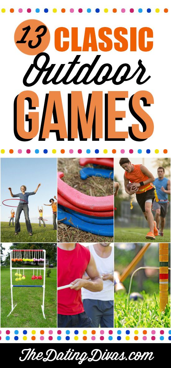 My go to list for outdoor games! NICE! www.TheDatingDivas.com