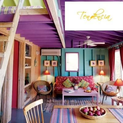 color blockingDecor, Living Rooms, Beach House, Dreams, Purple Ceilings, Livingroom, Interiors, Colors Room, Beachhouse