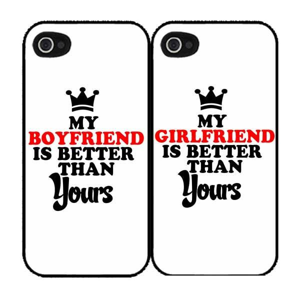 My Gf/Bf Is Better Than Yours (SET OF 2) iPhone 4, 4s, 5, 5s, 5c, galaxy s3, s4, Note 2, 3 Case Back Cover