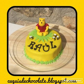cuquisdechocolate : Tarta Winnie the Pooh