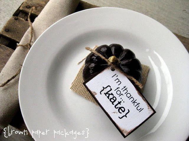Mini Pumpkin Place Cards