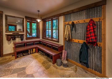 Sustainable Mountain Home - rustic - Laundry Room - Sacramento - Heller Construction, Inc.
