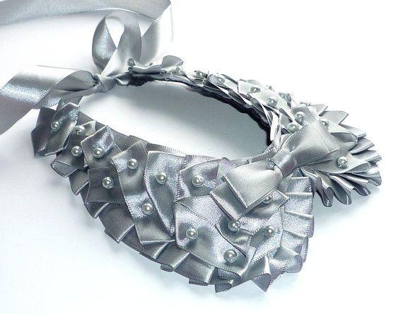 False collar Grey elegant trend 2013 by wandadesign on Etsy, €40.00