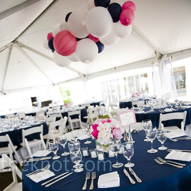 Navy Pink And White Wedding