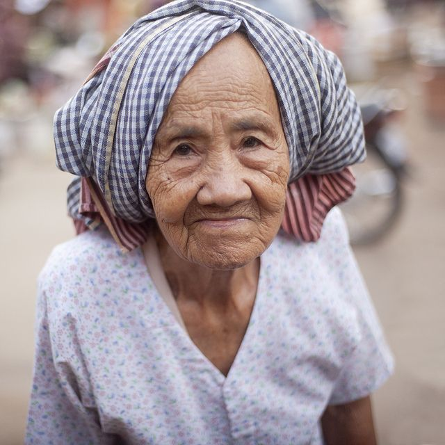 Marché de Pursat, Cambodge