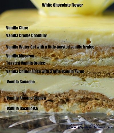 Yes, that's right. I decided to make Adriano Zumbo's V8 cake. Not a car cake as might be thought by the name, but a gorgeous cake composed of eight different layers of vanilla. Vanilla crème chanti…