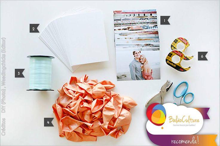 Passo 1: Tutorial: Balões com foto Materiais: 1. 4 × 6 fotos  2. 5 × 7 cartolina  3. Fitilho 4. Balões de látex 12 polegadas 5. Tesouras & Furador  6. Fita dupla face 7. Gás Hélio Cote conosco os materiais: contato@balaocultura.com.br  #balaocultura #balãocultura #tutorialbalãocomfoto #tutorialbalaocomfoto #fotonobalao #balaocomgashelio #façavocemesmo #façafácil