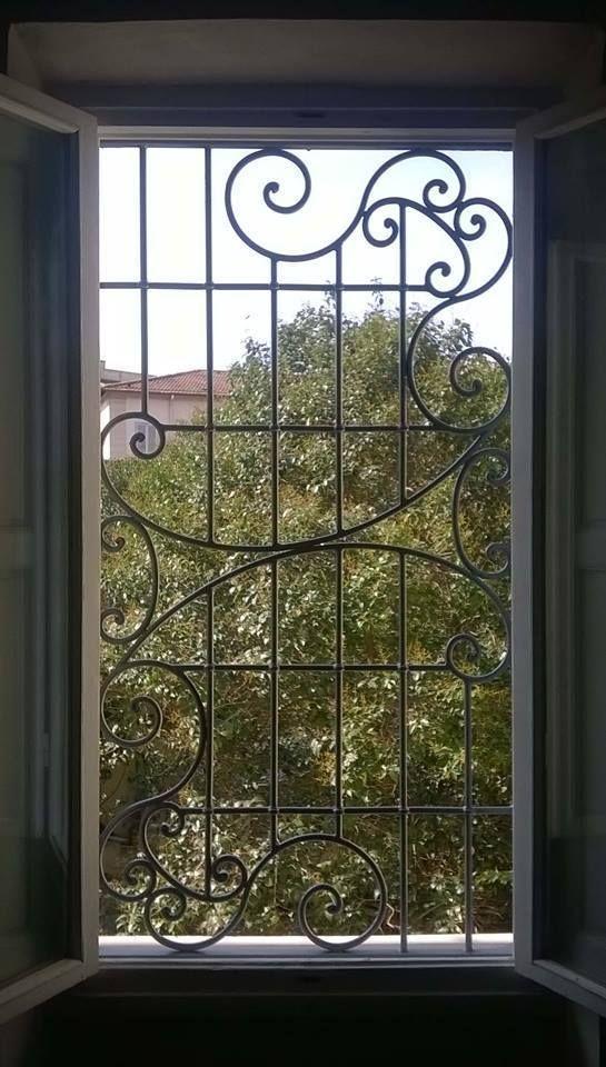 Grata inferriata in ferro battuto realizzazioni personalizzate 604 porta finestra e - Finestra a bovindo ...