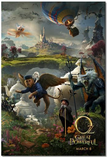Oz the Great and Powerful released in theaters today.
