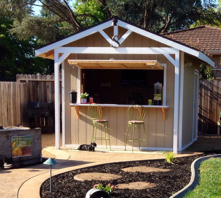 Our new bar shed time for a party our crazy home for Outside buildings design