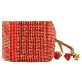 Bracelet Rays corail doré Mishky