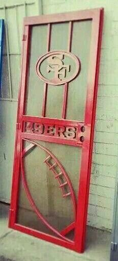 S.F. 49ers Screen Door