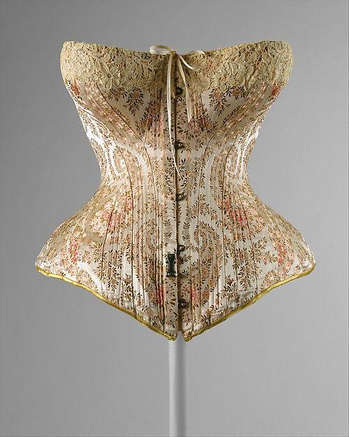 The Metropolitan Museum of Art Objeto: Corset Diseñador: Maison Léoty (Francés) Fecha: 1891 Cultura: Francesa Materiales: Seda