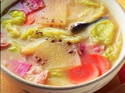 残り野菜のみそスープ レシピ 小林 カツ代さん|【みんなのきょうの料理】おいしいレシピや献立を探そう