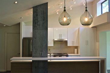 Faux Mill Steel Column modern kitchen
