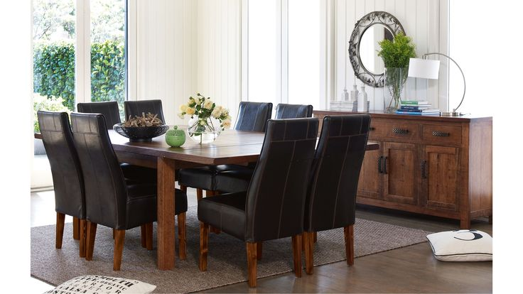 Pyramid 9 Piece Extension Dining Setting